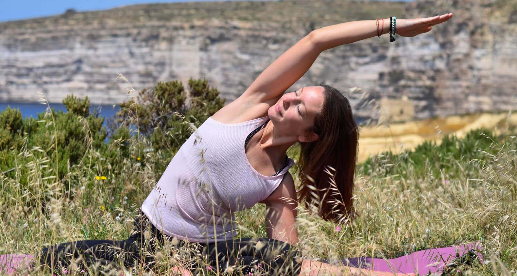Lina Vuk Yoga Teacher Xlendi Gozo Malta